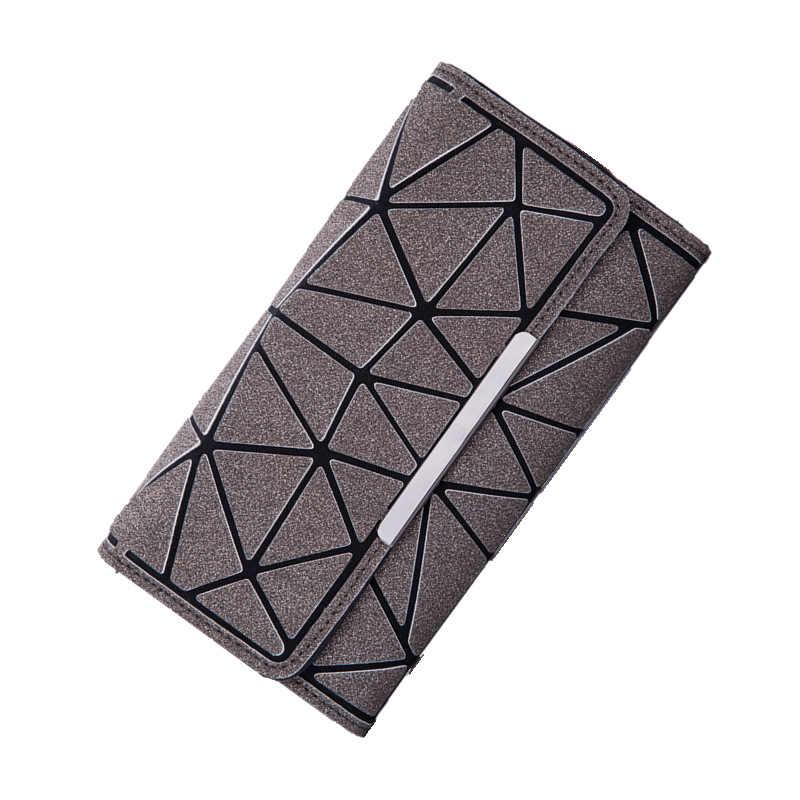 Длинный кошелек для женщин женские кошельки и кошельки молния световой Стандартный три складки дамы сцепления держатель для карт Carteira Billfold