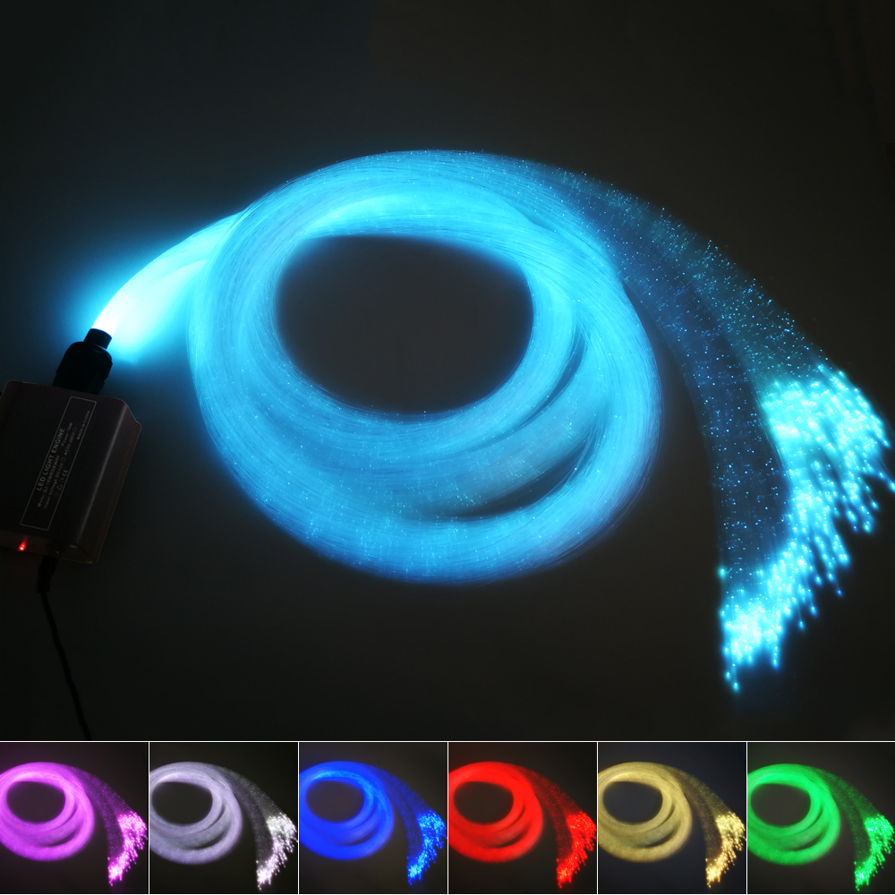 16W RGBW sparkle Fiber Optic Star Ceiling kit lights 300pcs*1mm *2Meter optical flash point curtain ,waterfall sensory light 16w remote rgbw twinkle sparkle fiber optic decoration 300pcs 1 0mm flash point 3meter waterfall sensory light kit