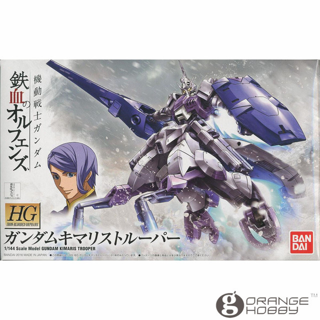 a01c7a51eef3 OHS Bandai HG Iron-Blooded Orphans 016 1 144 Gundam Kimaris Trooper Mobile  Suit Assembly Model Kits oh