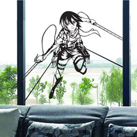 DCTAL Attack on Titan Cartoon Wall Stickers Wall Decors Decal Wall Paper Home Decor 0001