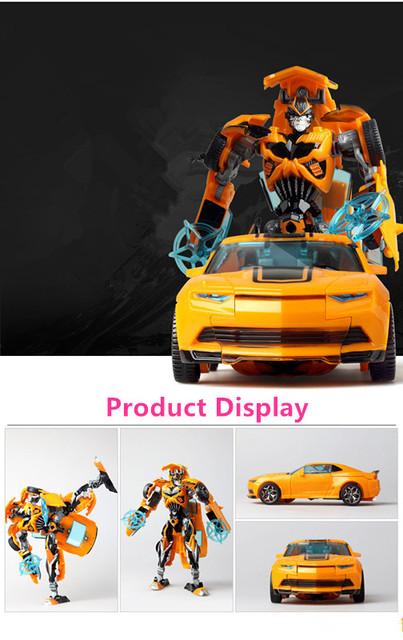 18.5cm Big Classic Transformation Education Plastic Robot Cars
