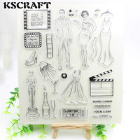 1 Sheet You Are A Star Transparent Clear Silicone Stamps For DIY Scrapbooking Card Making Kids