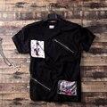 Бесплатная доставка Плюс размер мужской одежды повседневная сверхбольших жира Лоскутное тройники о-образным вырезом с коротким рукавом мода футболки 2xl 4xl 7xl 8x