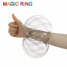 oroflux Torofluxus Flowtoys Magic Ring Flow Ring Kinetic Spring Toy 3D Sculpture Ring Outdoor Game Intelligent Toy(China)