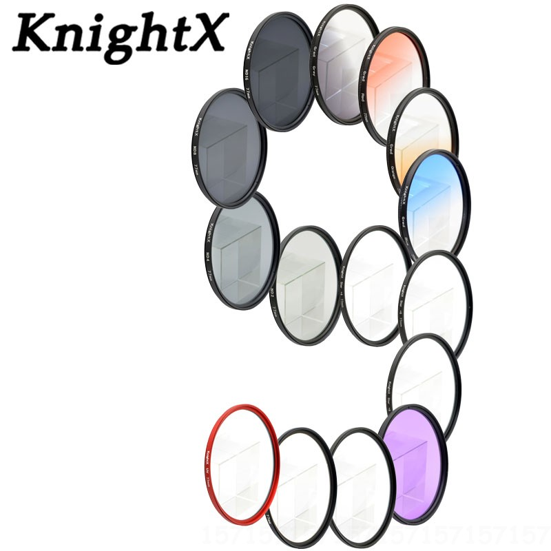 KnightX ND FLD CPL MC UV Star Close up 52MM 58MM 67mm 77MM Color Lens Filter for Canon nikon d3200 550D 600D 650D 1100D D5200 6D knightx 14 filter fld uv cpl nd nd2 nd4 nd8 grad lens for sony canon nikon d5300 d5200 d3300 eos 7d 5d 6d 52mm 58mm 67mm 77mm