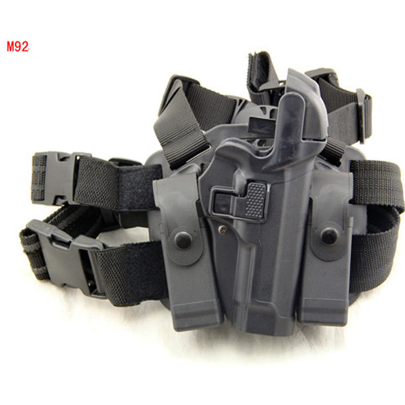 Tactical Serpa Concealment Level 3 Retention Auto Lock Drop Leg Thigh Duty Right Hand Pistol Holster