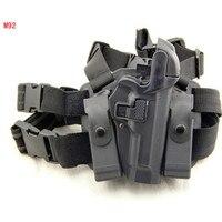 Tactical Serpa Concealment Level 3 Retention Auto Lock Drop Leg Thigh Duty Right Hand Pistol Holster for Beretta 92 96 M9 M92