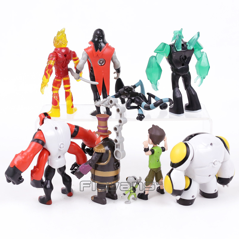 Ben 10 Tennyson Four Arms Grey Matter Kineceleran Diamondhead Heatblast PVC Action Figures Kids Toys Gifts 9pcs Set In Toy From