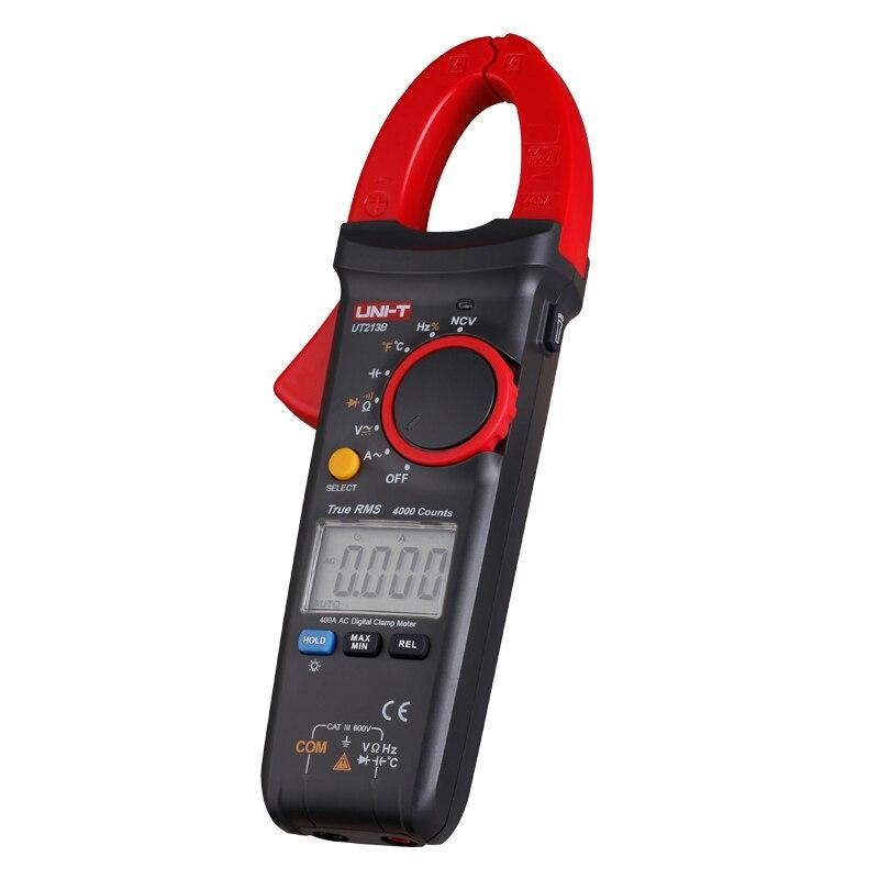 UNI-T UT213B 400A Digital Clamp Meters Voltage Resistance Capacitance Multimeter Temperature Auto Range multimetro Diode trueRMS