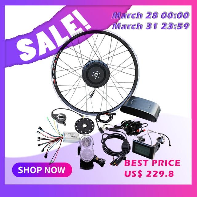 "36V 48V 500W Wheel Motor Electric Bike Conversion Kit Without Battery 20"" 26"" 700C E Bike Ebike bicicleta electrica patinete kit"