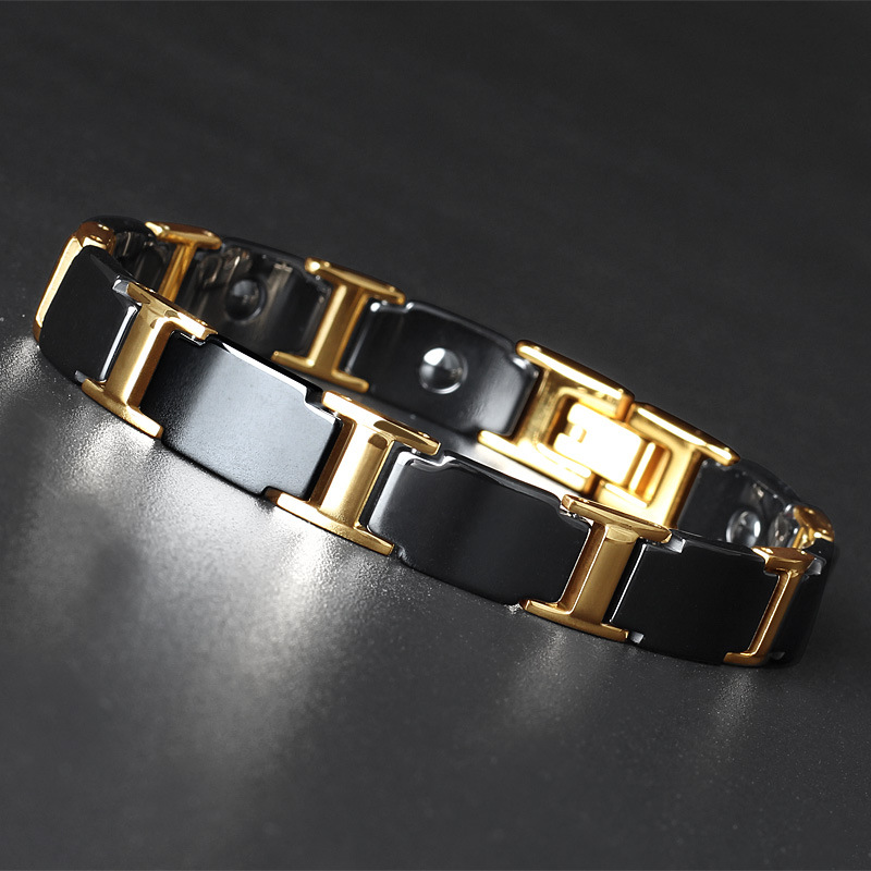 Jewelry Fashion Titanium Steel Stainless Ceramic Bracelet Hot Sales In Europe and America