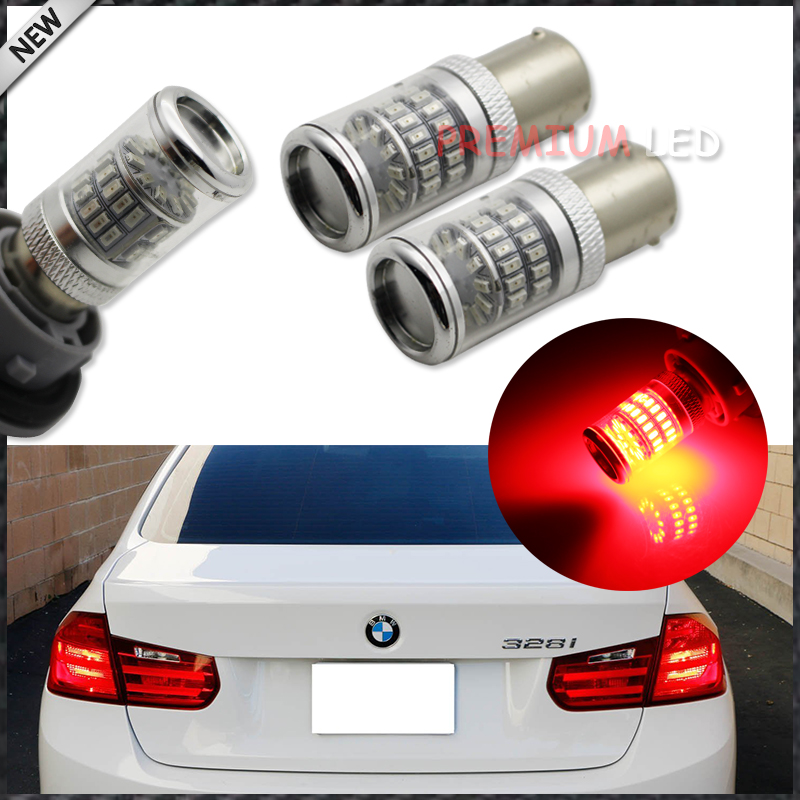 (2) rilliant Red 7507 PY21W Canbus LED Replacement Bulbs For BMW F30 F32 3/4 Series Rear Turn Signal Lights or Brake/Tail Lights ijdm amber yellow error free bau15s 7507 py21w 1156py xbd led bulbs for front turn signal lights bau15s led 12v