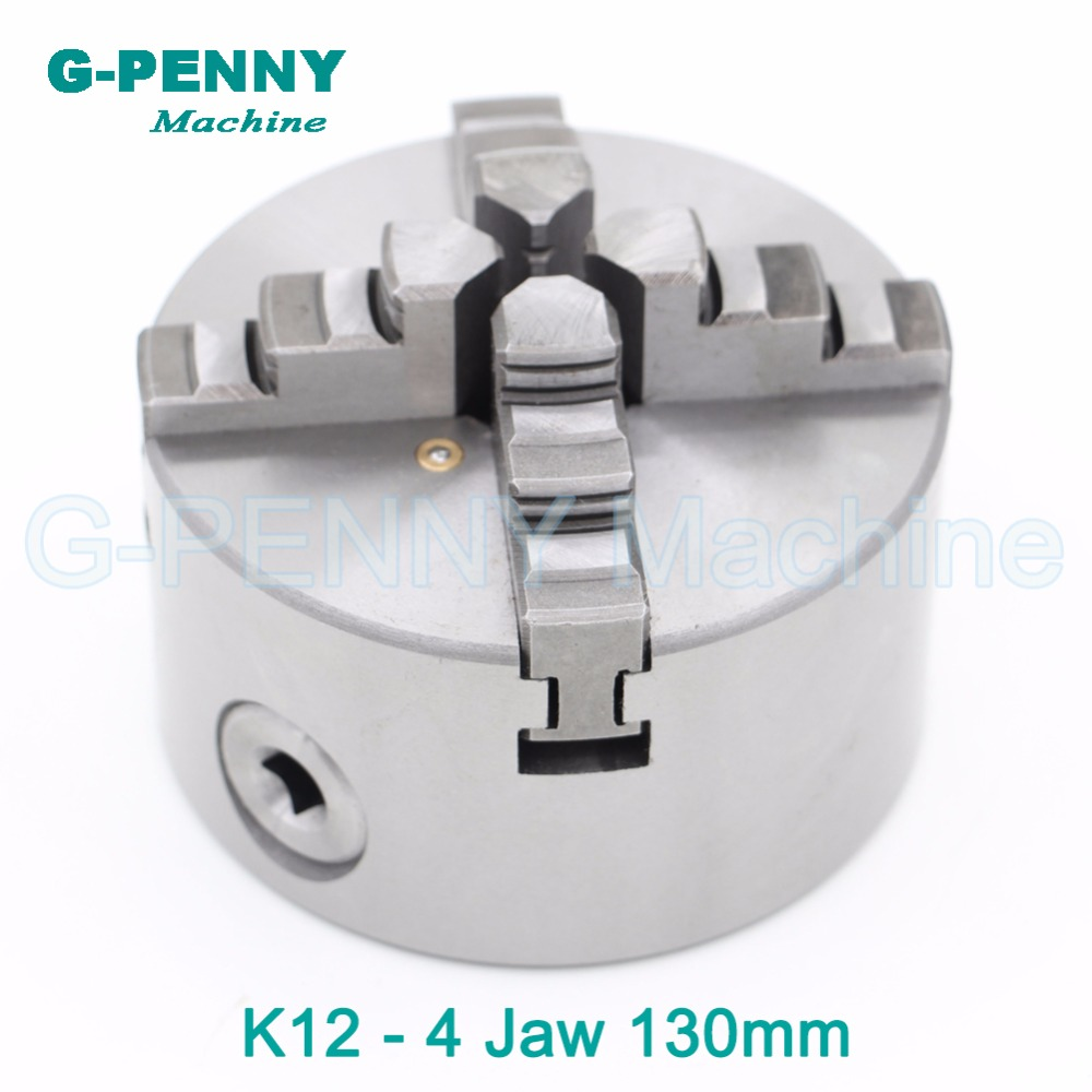 CNC 4th axis / A axis 130mm 4 jaw Chuck self-centering manual chuck four jaw for CNC Engraving Milling machine CNC Lathe Machine