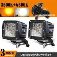 CO LIGHT 12D 24W Led Worklight 3 White/Amber Strobe Pods Spotlight 6500K 3500K for Lada Offroad ATV 4x4 Auto Fog Light 12V 24V