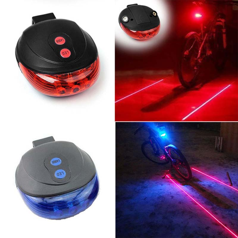 Bicycle Tail Light Waterproof Cycling Bike Light 7 Flash Mode 5 LED 2 Laser Bike Rear Lights For Bike Accessories Lights