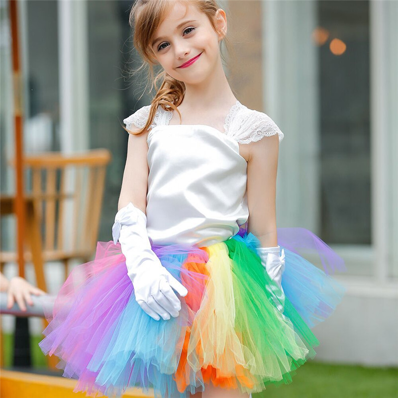 Candy Color Princess Girl Tutu Dress Handmade Tulle Lace Party Girl dress Patchwork Girls Costumes For