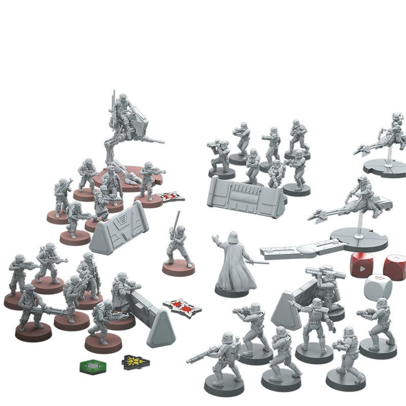1/72 Scale Resin Figure Model Kit STAR WARS CORE SET Micromodel Board Game DIY Toys Hobby Tools Creative Gift