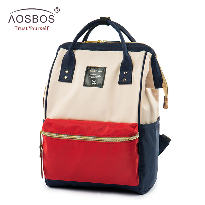 ФОТО Fashion Women Nylon Backpacks High Quality Ladies Hit Color Waterproof Backpack Female Preppy Style Zipper Solid Book Bags