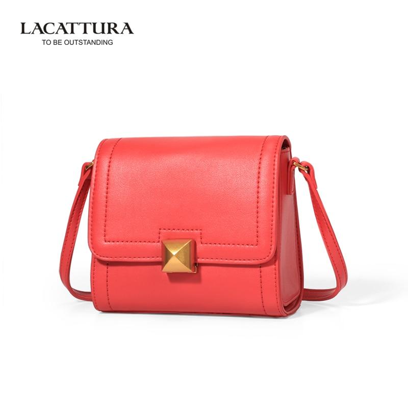 ФОТО A1330 2017 Brands mini Flap LACATTURA genuine leather women Shoulder bag sweet chain belt handbags Lady's bags bolsa feminina