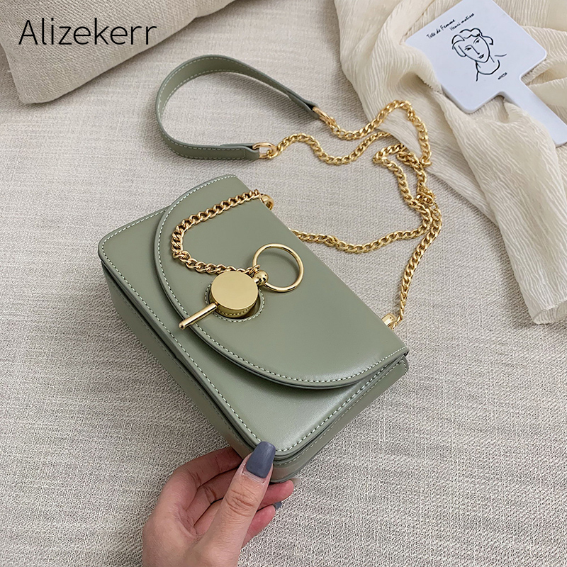 New Elegant Shoulder Bags Women Fashion Korean Personality Simple Key Chain Crossbody Bags For Women Chic Small Square Bag Flap
