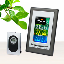 Buy online JIMEI H209G-COLOR Electronic Indoor/outdoor LCD colorful 433MHz Wireless Weather Station alarm Clock thermometer Hygrometer