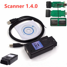 цена на Newly For BMW SCANNER 1.4.0 Scanner Version 1.4 with FT232RL Chip PA Soft 1.4 OBD2 Diagnostic tool Free Shipping