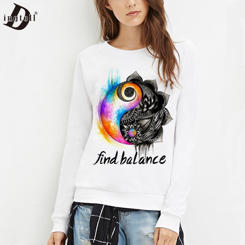 Women's Clothing Baekadoo Woman Sweatshirts Monkey Print Harajuku Moletom Pullovers O-neck Hoodies Top Sale Price