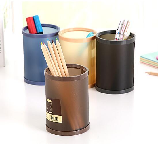 3PCS/SET Creative DIY Desk Storage Plastic Pen Holder Desktop Organizer promotion gift pen container garbage box trash can