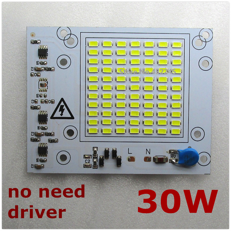 10 pieces input voltage 220V directly 30W Integrated IC LED PCB smd 5730 Aluminum Base Plate for floodlight .