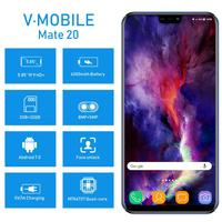 "cell phone screen TEENO VMobile Mate 20 Mobile Phone Android 7.0 3GB+32GB Fingerprint ID 5.84"" 19:9 HD Screen 4G Smartphone unlocked Cell Phones (2)"