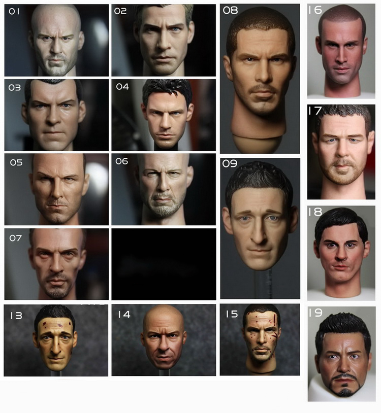 Hot Action Figure Accessory 1/6 scales male man head sculpt model toys kids diy collection Soldier head sculpt doll toy 1 6 head sculpt kumik star model male figure headplay head carving for 12 action figure collection doll toys gift kumik15 20