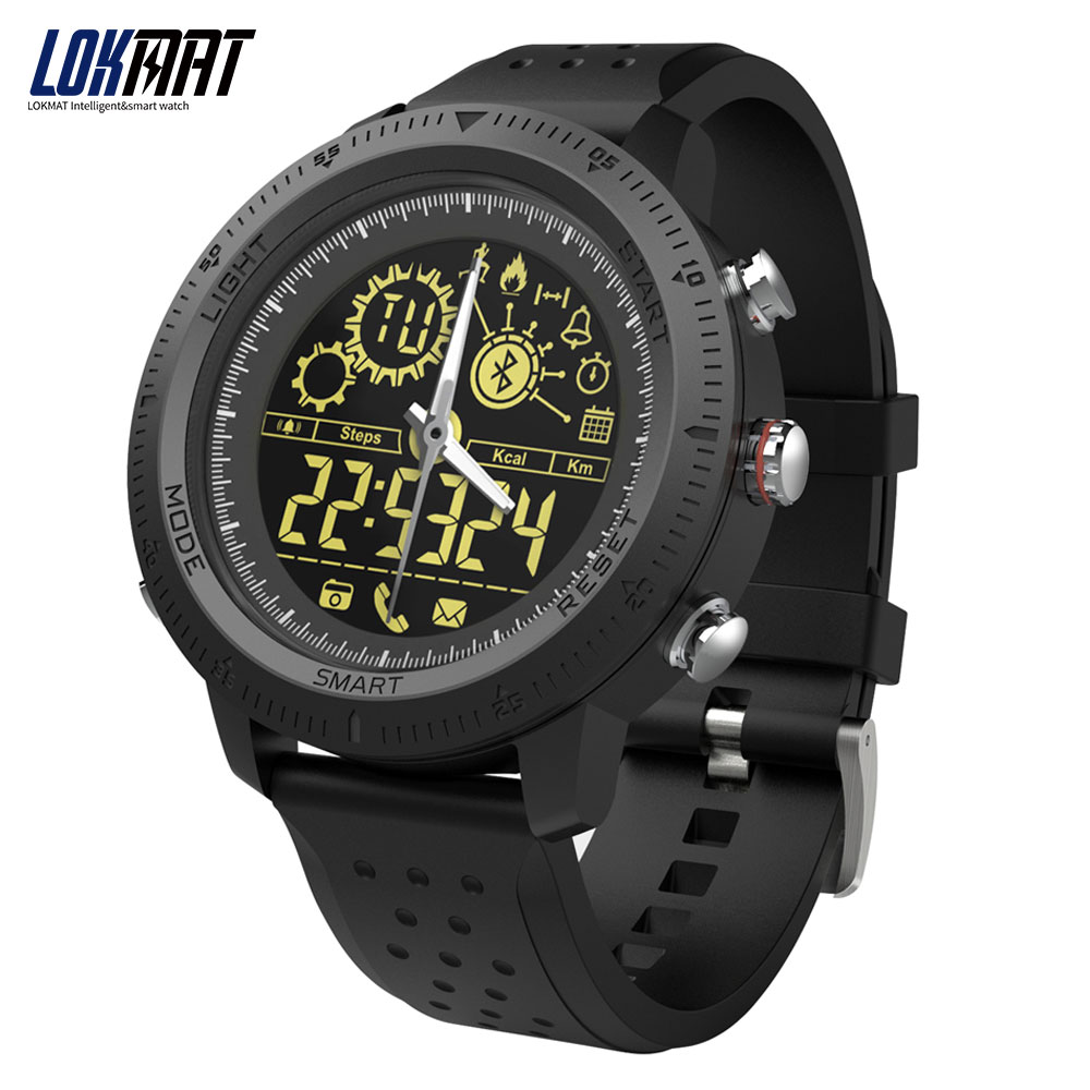 LOKMAT Men Watches Bluetooth Waterproof Pointer Smart Sport Watch Fashion Outdoor Pedometer smartwatch for ios and android smart pointer