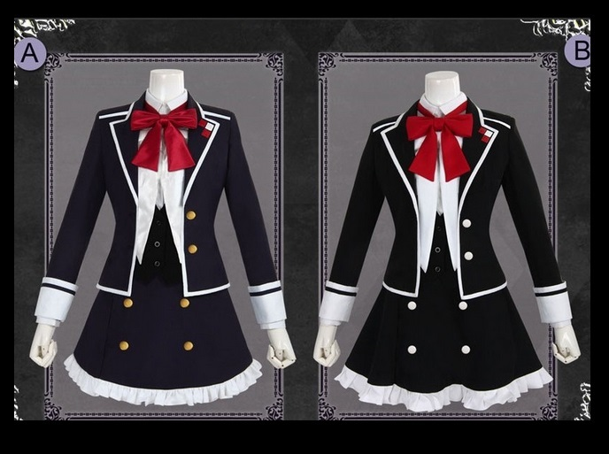 Anime Diabolik Lovers Cosplay Costume Komori Yui Cosplay Costume School Uniform Dress Outfit Role Play Halloween Costumes