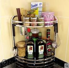 Stainless steel kitchen shelves rack hanging Angle utensils and appliances storage