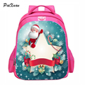 PACENTO Cute 2016 Design Children School Bag Christmas printing Backpacks for Teenagers girl Santa Claus Gifts boy sac a dos px