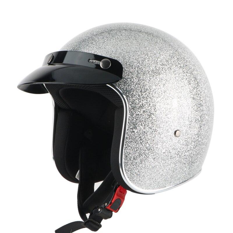 New arrival motorcycle helmet retro lucky scooter helmet vintage open face helmet Halley half helmet moto