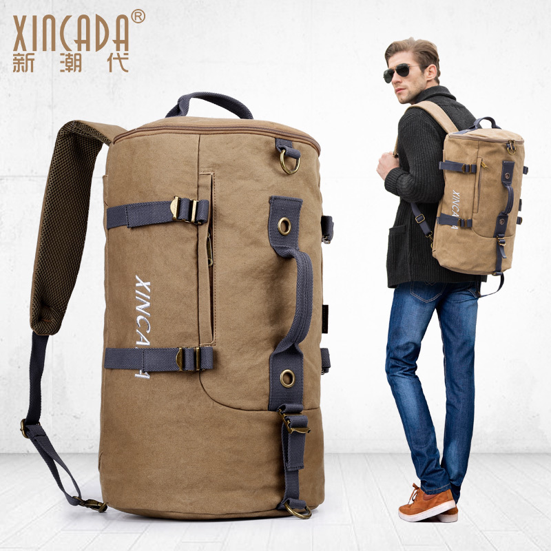 XINCADA Canvas Totes  Shoulder Bag Diagonal Cross Briefcase Multi-Function Male Messenger Bags Leisure Travel Bag