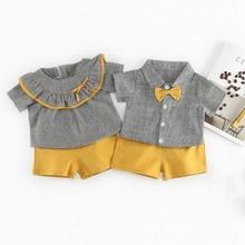Cute Design Siblings Matching Baby Shirt and Shorts Set