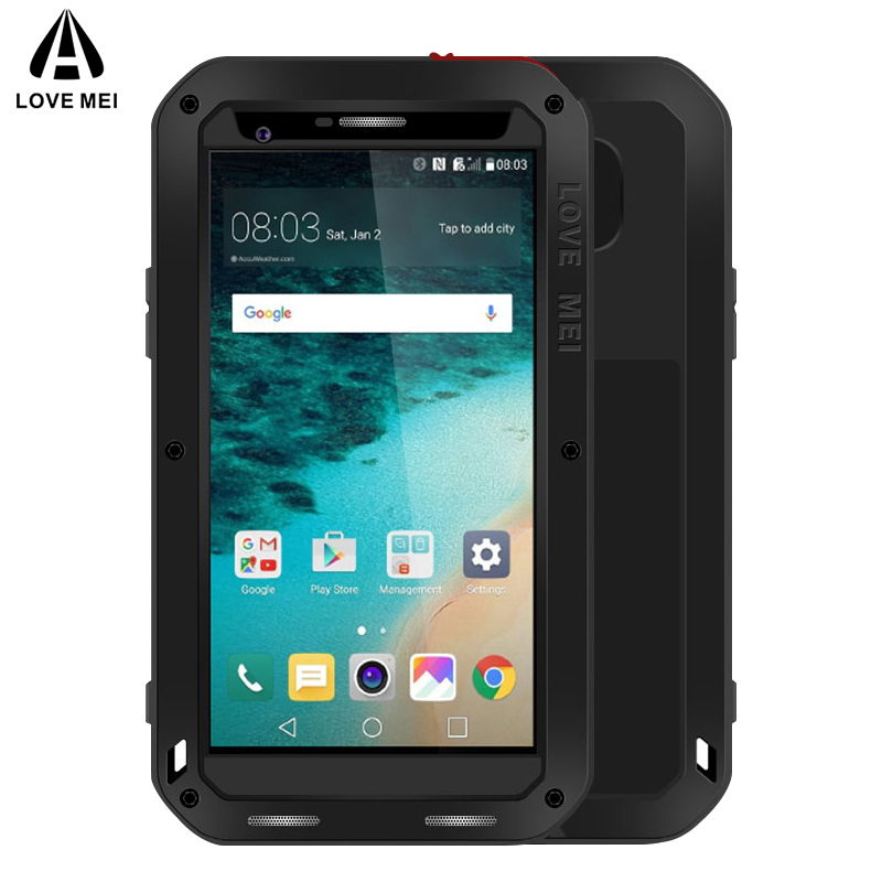 LOVE MEI Aluminum Metal Case For LG G4 G6 Cover Powerful Outdoor Armor Shockproof Waterproof Case For LG G6 G4 Cover
