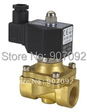 Free Shipping High Quality IP67 Square Coil Water Solenoid Valve 1'' Ports NC 2W250-25-D 5Pcs In Lot free shipping high quality 2pcs in lot process brass solenoid valve g1 1 2 2w400 40 110v 50 60hz voltage coil