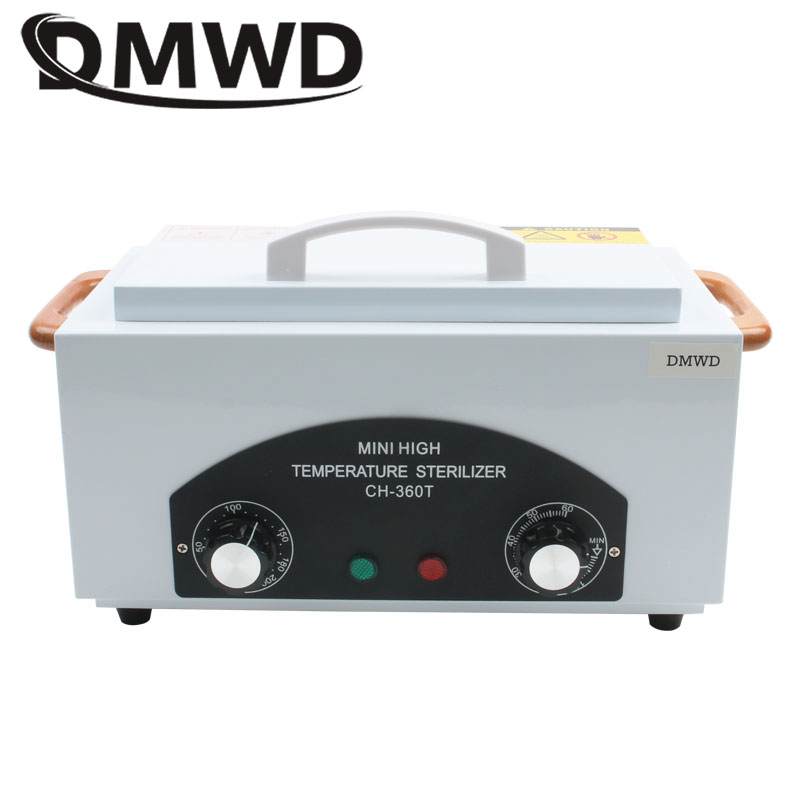 DMWD Mini High Temperature Sterilizer Manicure Dental Hot Air Heat Disinfector Nail Art Salon Disinfection Cabinet Box 110V 220V 2016 new color 110v 240v high temperature sterilizer box