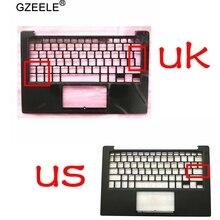 95% novo para dell xps13 9350 9360 palmrest superior caso teclado moldura habitação 43wxk 043wxk nxhvx phf36 eua uk versão preto