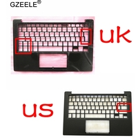 GZEELE new For DELL XPS13 9350 9360 Palmrest Top upper case Keyboard bezel Housing 43WXK 043WXK NXHVX PHF36 US UK version black