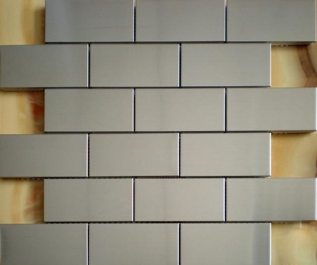 u bahn streifen edelstahl metall mosaik fr heimwerker kche backsplash fliesen badezimmer dusche tiles12x12 - Ubahn Fliese Kche Backsplash Bilder