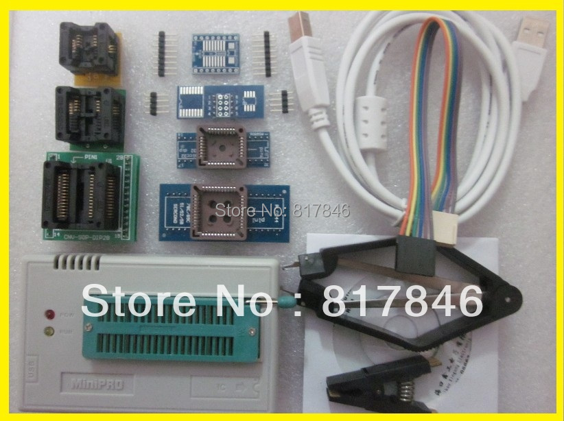 New XGECU V7.32 TL866II Plus TL866II Plus USB universal nand flash 24 93 25 Bios MCU PIC AVR EPROM Programmer+9 adapters usb tl866cs programmer eprom spi flash avr gal pic 9pcs adapters test clip 25 spi flash support in circuit programming adapter