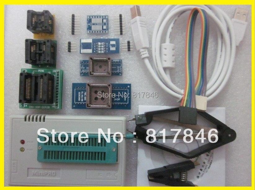 Nový XGECU V8.30 TL866II Plus TL866II Plus USB univerzální nand flash 24 93 25 Programátor Bios MCU PIC AVR EPROM + 9 adaptérů