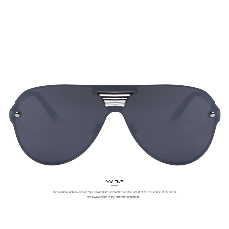 549087300c MERRY S Fashion Men Summer Mirror Sunglasses Women Brand Design Big Frame  Integrated Eyewear Sunglasses Oculos de sol UV400-in Sunglasses from Men s  ...