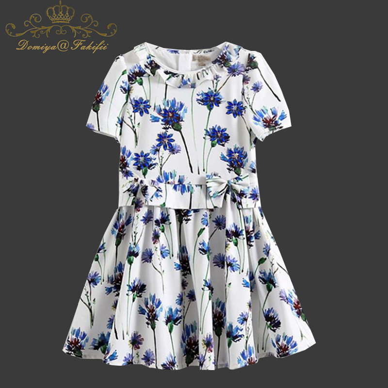 Girls Dress Flower Print Baby Girls Clothes Unicorn Party Princess Dress Christmas Costume for Kids Clothing Children Dresses 2018 baby girl dress summer unicorn costume for kids clothing brand children party dresses cute dog girls clothes princess dress
