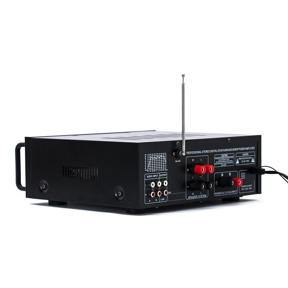 110V 220V 12V 2.1 canal 200W haute puissance Bluetooth FM USB MP3 karaoké amplificateur 10 segments égaliseur famille voiture amplificateur audio - 4