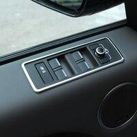 4pcs Set Chrome Window Lift Button Panel Trim For Land Rover Range Rover Sport RR Sport